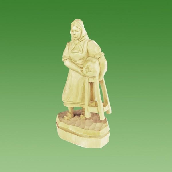 geschnitzte Klöppelfrau
