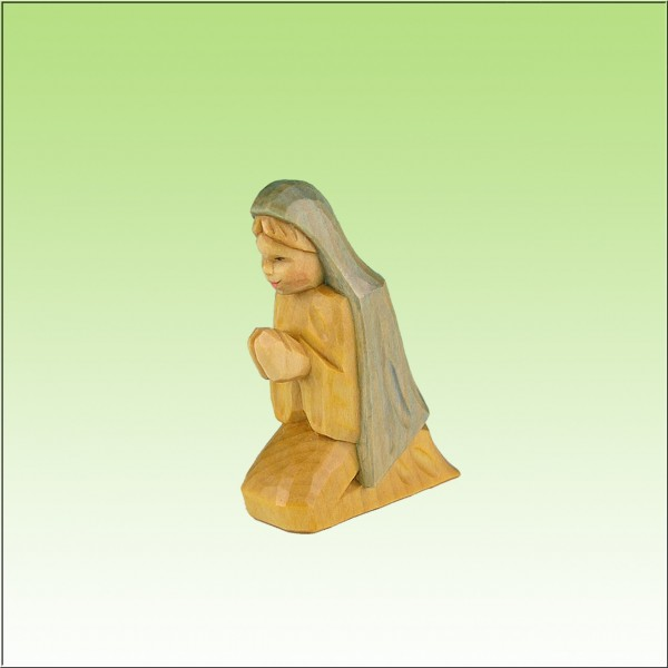 geschnitzte Maria, 12 cm, farbig lasiert