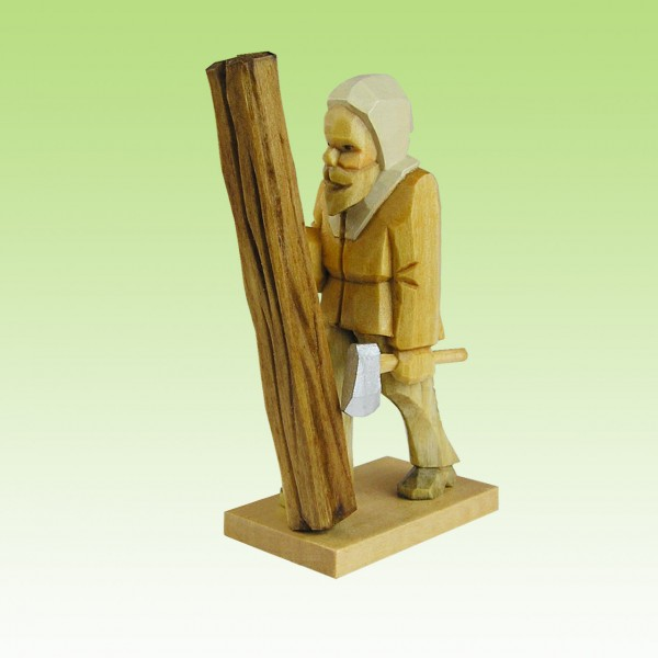 geschnitzter Bergzimmermann stehend, 7cm, farbig