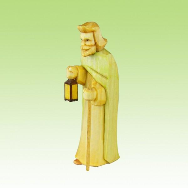 geschnitzter Josef, mit Laterne