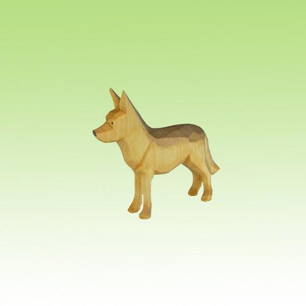 geschnitzter Schäferhund, stehend