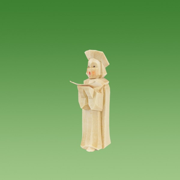 geschnitzter Kurrende Sänger, 5cm, natur