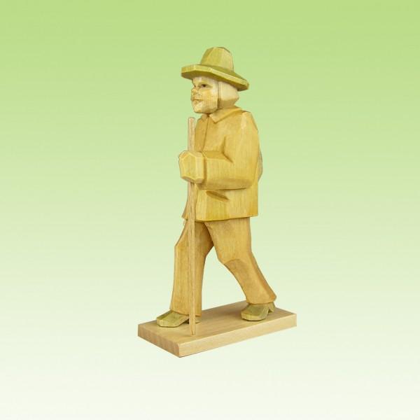 geschnitzter Wanderer