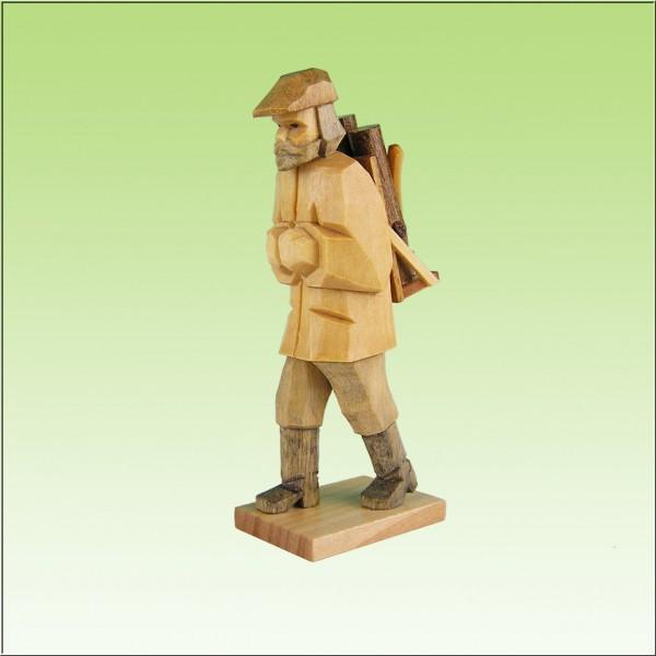 geschnitzter Holzfäller, 7-9cm, farbig