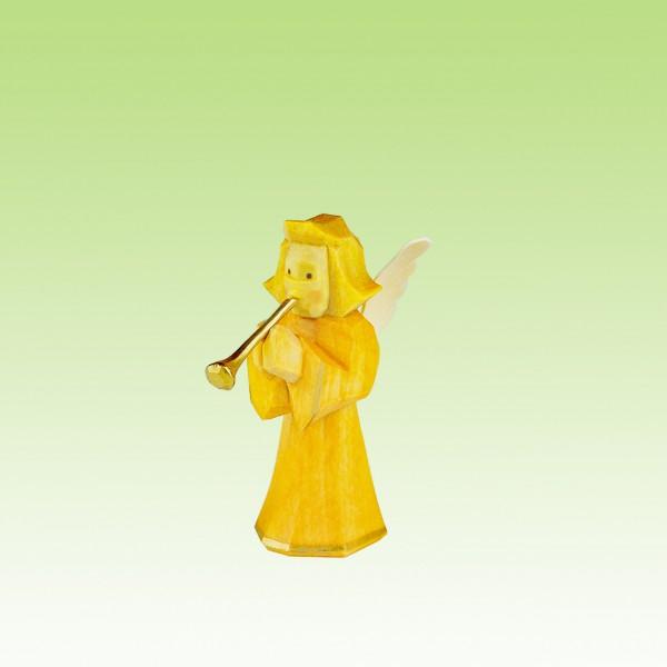 geschnitzter Engel, Bläser