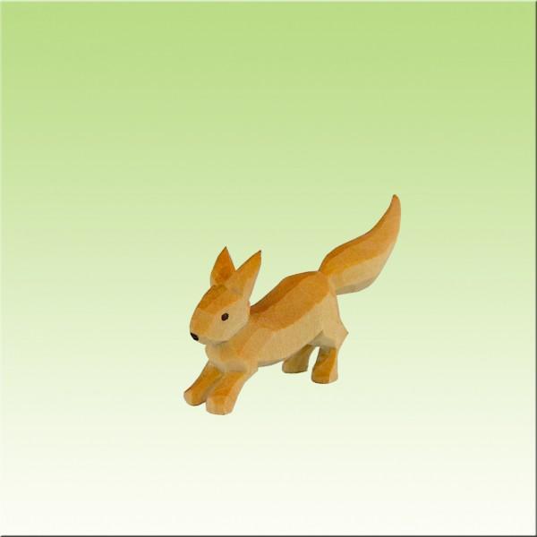 Eichhörnchen hoppelnd, farbig