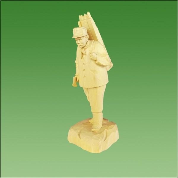 geschnitzter Holzfäller, 21cm, natur lasiert