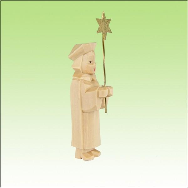 geschnitzter Kurrende Sternträger, 7cm, natur