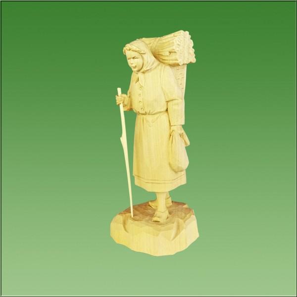 geschnitzte Holzfrau, 18cm, natur