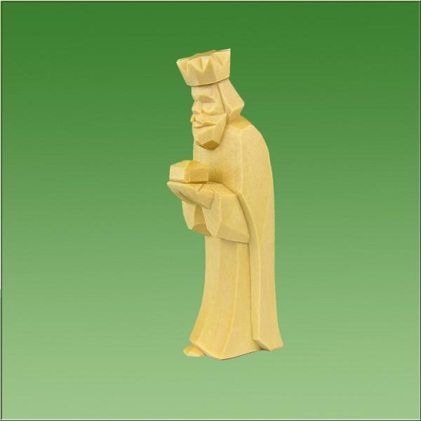 geschnitzter König stehend, 7cm und 9cm, natur lasiert