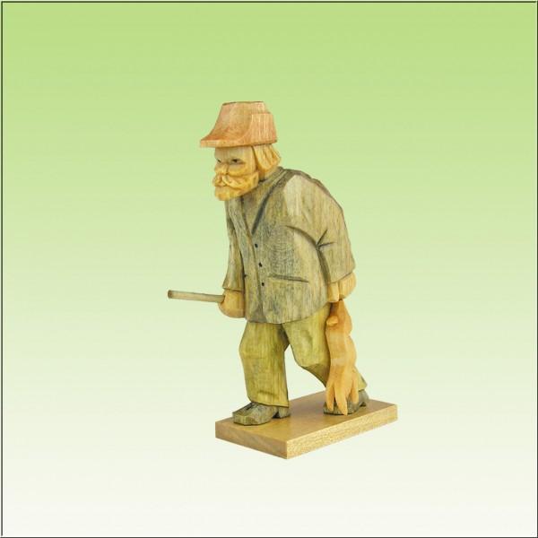 geschnitzter Wilderer, 8-10cm, farbig