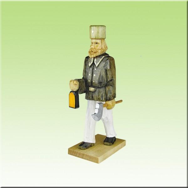 geschnitzter Bergmann, mit Licht, 12cm, farbig